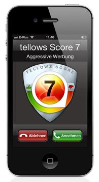tellows App für das iOS System