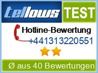 tellows Bewertung +441313220551