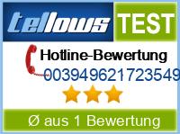 tellows Bewertung 003949621723549