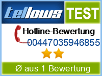 tellows Bewertung 00447035946855