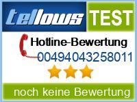 tellows Bewertung 00494043258011