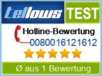 tellows Bewertung 0080016121612