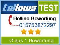 tellows Bewertung 015753872297