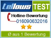 tellows Bewertung 016090632016