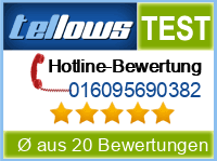 tellows Bewertung 016095690382