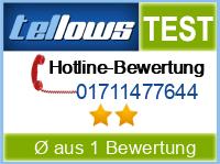 tellows Bewertung 01711477644