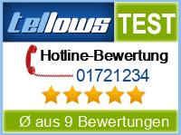 tellows Bewertung 01721234