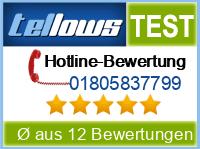 tellows Bewertung 01805837799