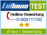 tellows Bewertung 01806111100