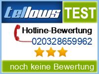 tellows Bewertung 020328659962