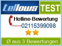 tellows Bewertung 02115399098