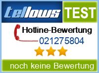 tellows Bewertung 021275804