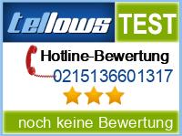 tellows Bewertung 0215136601317