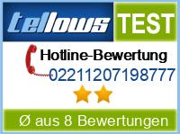 tellows Bewertung 02211207198777