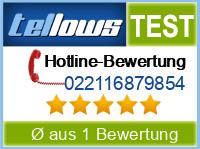 tellows Bewertung 022116879854