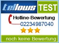 tellows Bewertung 02234987040