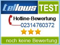 tellows Bewertung 02314760372