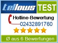 tellows Bewertung 02432891760