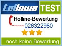tellows Bewertung 026322980