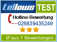 tellows Bewertung 026839435249