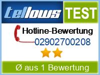 tellows Bewertung 02902700208