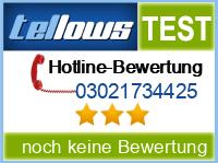 tellows Bewertung 03021734425