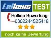 tellows Bewertung 0302244525418