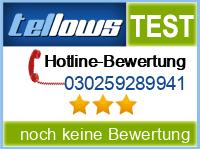 tellows Bewertung 030259289941