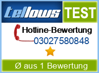 tellows Bewertung 03027580848