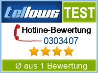 tellows Bewertung 0303407