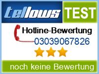 tellows Bewertung 03039067826