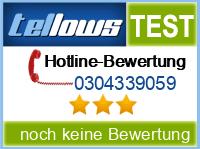 tellows Bewertung 0304339059