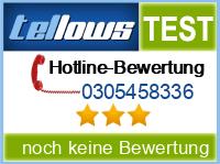 tellows Bewertung 0305458336