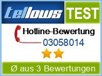 tellows Bewertung 03058014