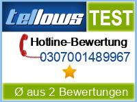 tellows Bewertung 0307001489967
