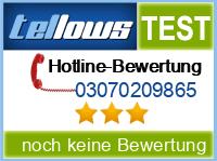 tellows Bewertung 03070209865