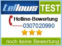 tellows Bewertung 0307020990