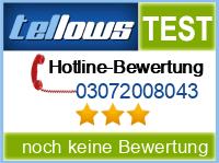 tellows Bewertung 03072008043