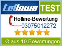 tellows Bewertung 03075012272