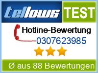 tellows Bewertung 0307623985
