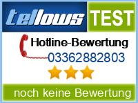 tellows Bewertung 03362882803