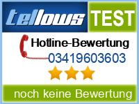 tellows Bewertung 03419603603