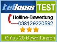 tellows Bewertung 038129220592