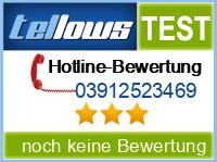 tellows Bewertung 03912523469