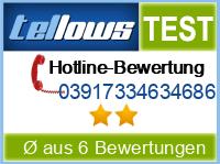 tellows Bewertung 03917334634686