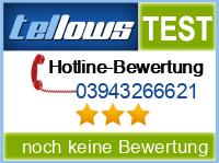 tellows Bewertung 03943266621