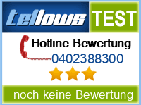 tellows Bewertung 0402388300