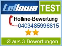 tellows Bewertung 0403485996815
