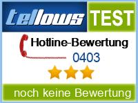 tellows Bewertung 0403