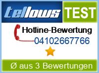 tellows Bewertung 04102667766
